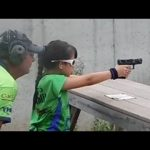 This 10-year-old knows how to use a gun